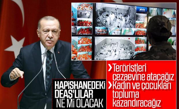 Cumhurbaşkanı tutuklu DEAŞ'lılara ne yapılacağını açıkladı