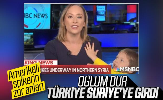 Amerikalı spiker haber sunarken oğlu canlı yayına girdi