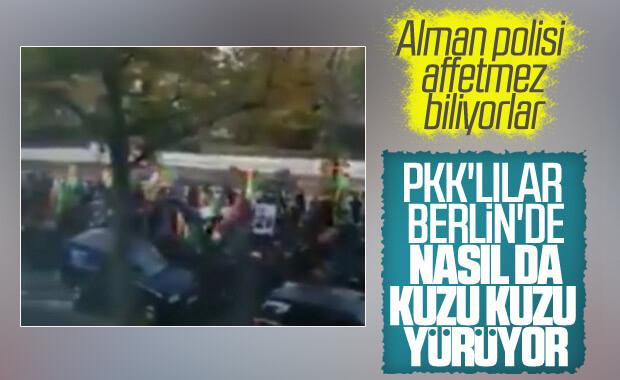 PKK yandaşları Almanya'da Türkiye'yi protesto etti
