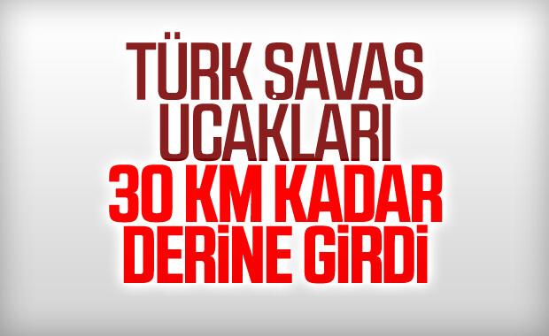 Türk savaş uçakları ilerliyor