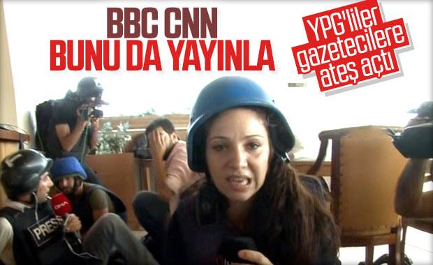 YPG, gazetecilere ateş açtı