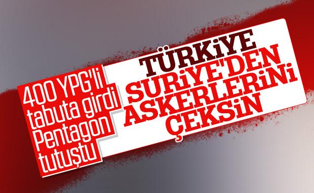 Pentagon: Türkiye, Suriye'de devam etmesin