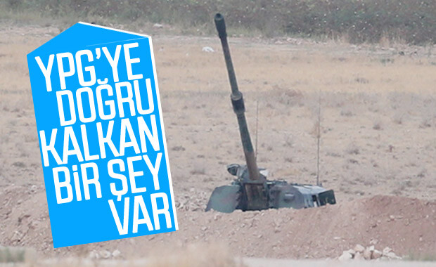 Sınırda namlular YPG'ye bakıyor