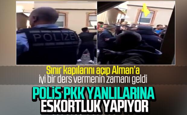 PKK'lılar saldırdı Alman polisi izledi