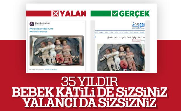 Barış Pınarı Harekatı'nda teröristlerin yalanları