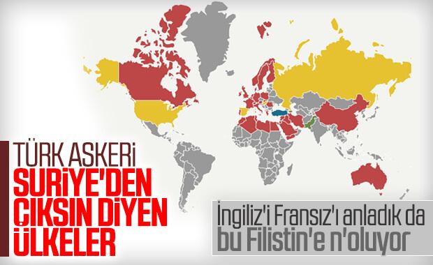 Türkiye'nin Suriye'den çekilmesini isteyen ülkeler