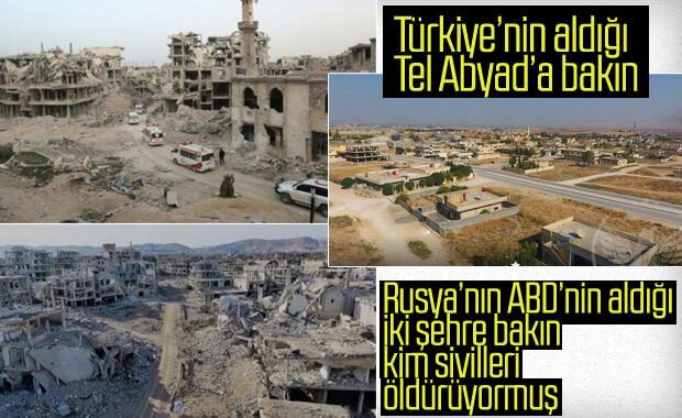 Türkiye'nin teröristlerin elinden kurtardığı Tel Abyad