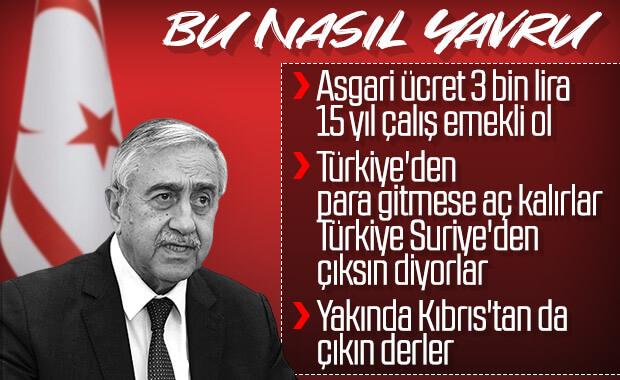 Yavru Cumhurbaşkanı Mustafa Akıncı küstahlaştı