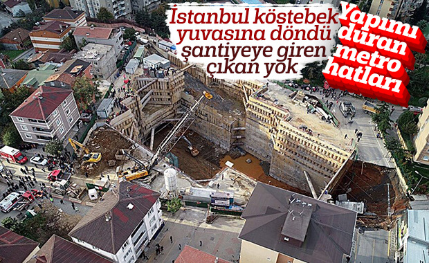 İstanbul'da yapımı duran metro hatları