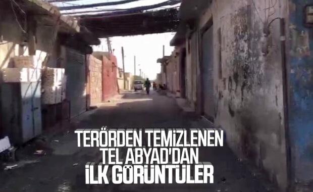 YPG'den temizlenen Tel Abyad'dan ilk görüntüler
