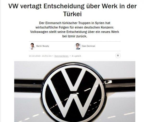 Volkswagen Türkiye'deki fabrika kararını erteledi