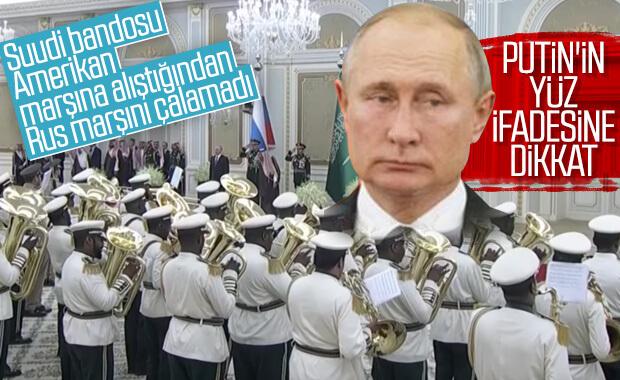 Suudi bandosu Rus marşını çalamadı