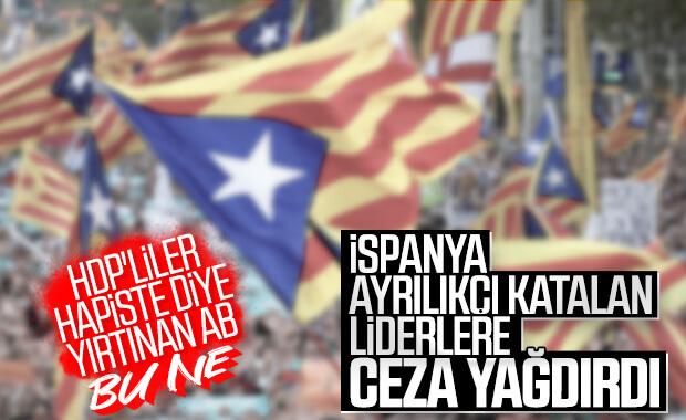 İspanya'da ayrılıkçı Katalan siyasilere hapis cezaları