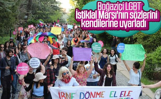 LGBT+ Kulübü, İstiklal Marşı ile dalga geçti