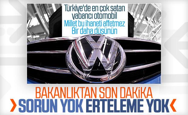 Volkswagen'in Türkiye yatırımında problem yok