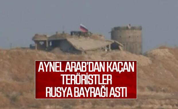 YPG'li teröristler Rusya bayrağı altına sığındı