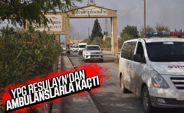 Teröristler ambulanslarla kaçıyor