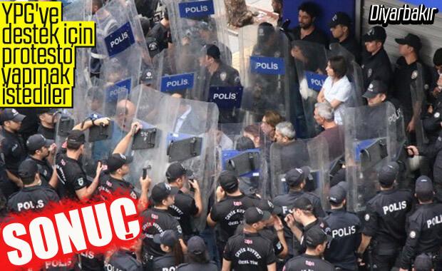 Barış Pınarı Harekatı'nı protesto etmek isyen HDP'lilere engel