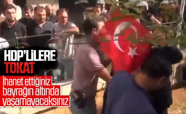 Nusaybin'de HDP'ye tepki
