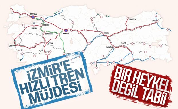 İzmir'e hızlı tren geliyor