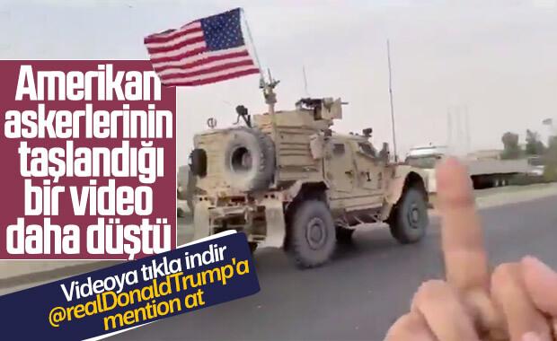 YPG'lilerin Amerikalıları taşladığı yeni görüntüler