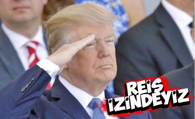 Trump'tan asker selamı