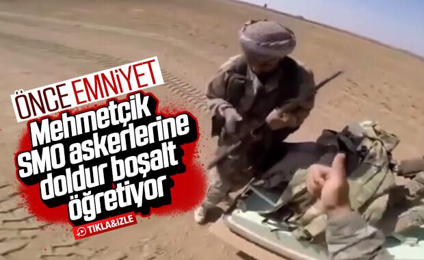 Mehmetçik SMO askerlerine silah emniyeti almayı öğretiyor