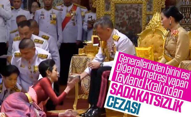 Tayland Kralı, general metresinin rütbesini elinden aldı