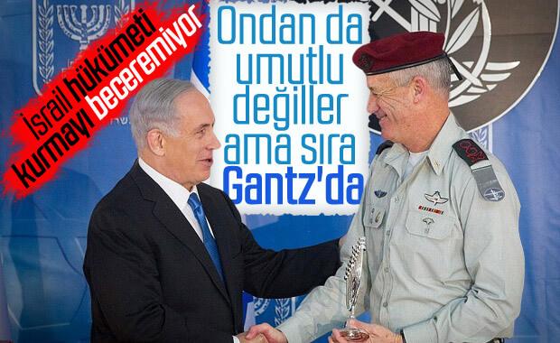 İsrail'de hükümeti kurma görevi  Gantz'da