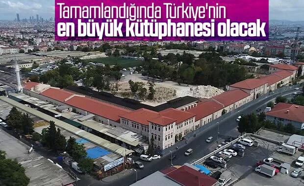 Türkiye'nin en büyük kütüphanesi havadan görüntülendi