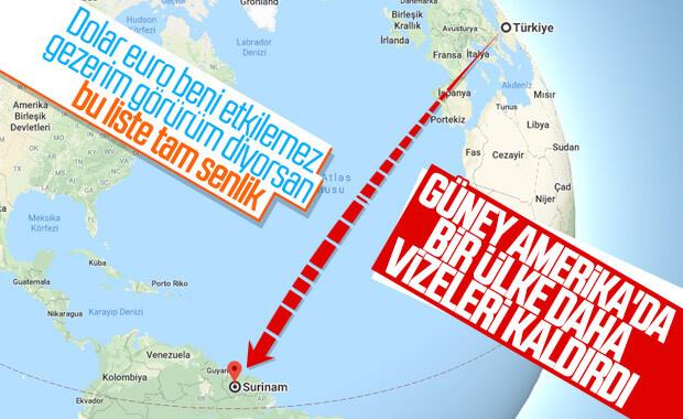 Güney Amerika ülkesi Surinam Türkiye'ye vizeyi kaldırdı