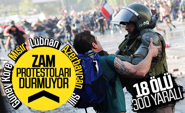 Şili protestolarında ölü sayısı yükseliyor