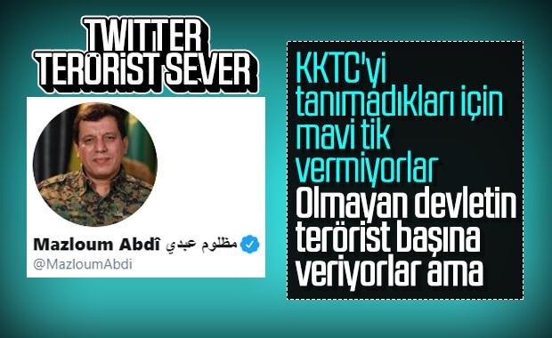 Twitter, terörist Mazlum Abdi'ye mavi tik verdi