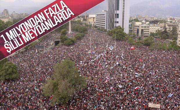 Şili'de 1 milyon insan sokaklarda