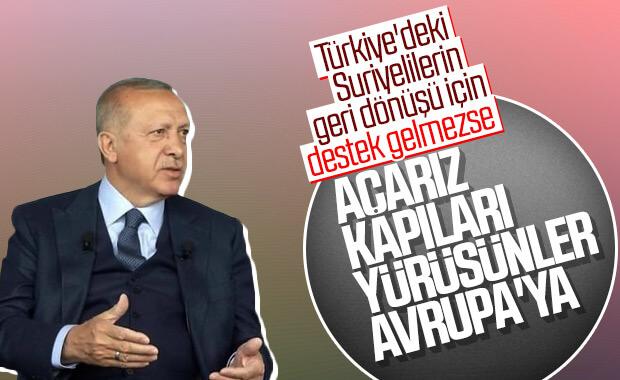 Erdoğan'dan Avrupa'ya son mülteci uyarısı