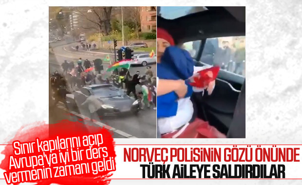 PKK yandaşları Norveç'te Türk aileye saldırdı