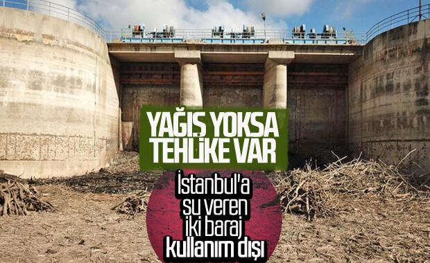 İstanbul'un su ihtiyacını karşılayan barajlarda kuraklık başladı