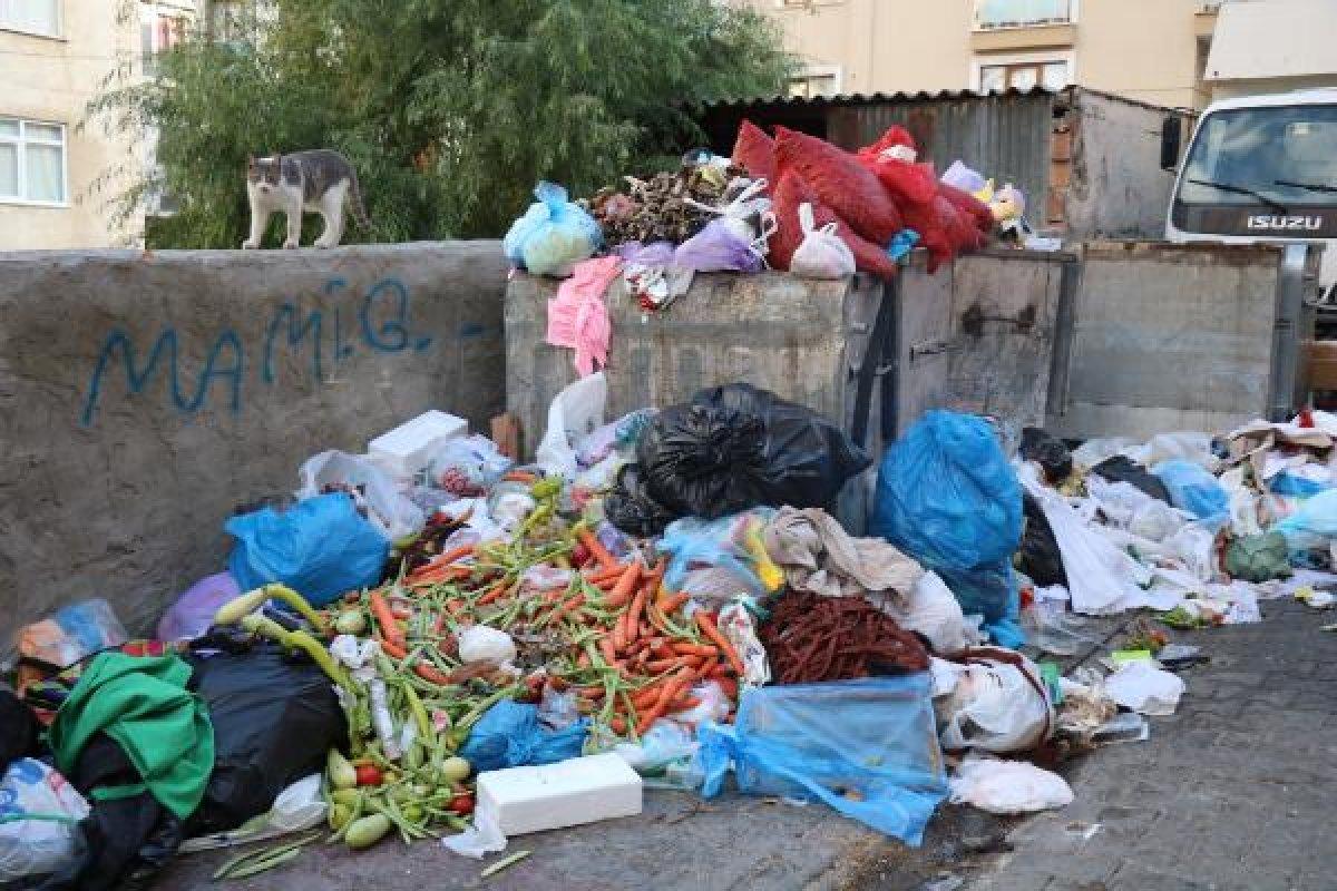 İstanbul Maltepe'de çöp tepeleri oluştu