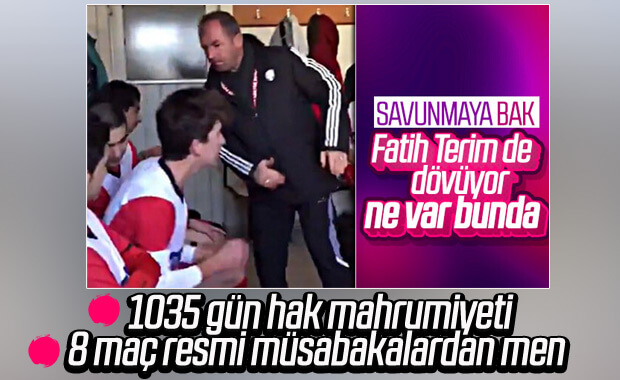 Soyunma odasında futbolcuları tokatlayan antrenöre ceza