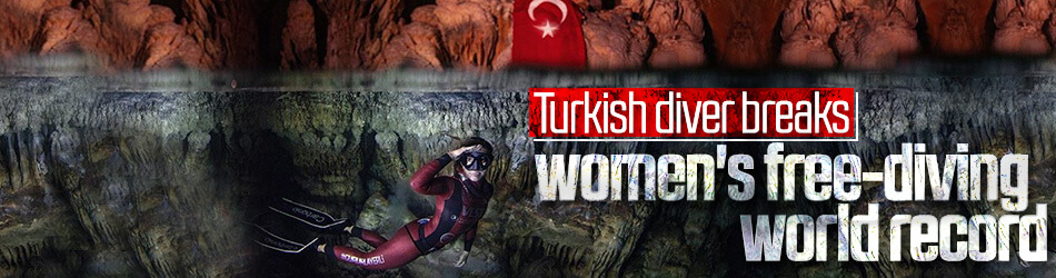 Turkish diver breaks women's free-diving world record