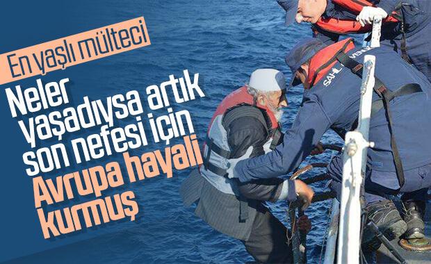 Yunanistan'a geçmeye çalışan en yaşlı mülteci