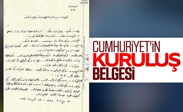 Cumhuriyet'in kuruluş belgeleri