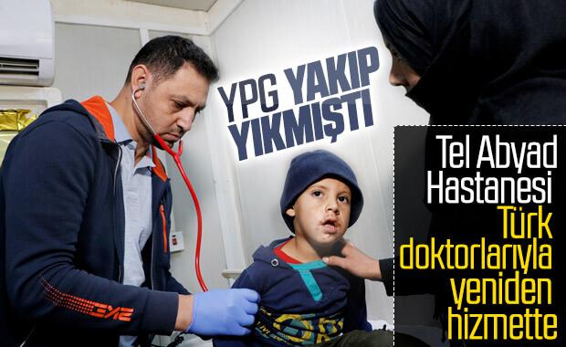 Teröristlerin ateşe verdiği hastane yeniden hizmete girdi