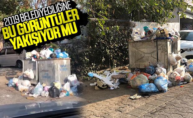 Ataşehir'de toplanmayan çöpler