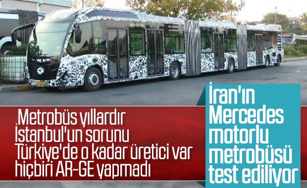 Metrobüs için yeni araç test ediliyor