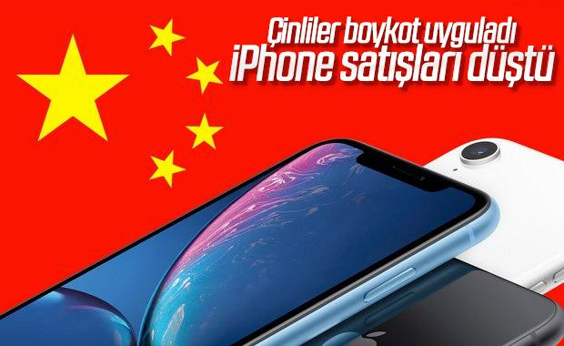 Çin'deki iPhone satışları yüzde 28 düştü