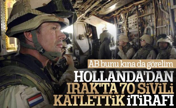 Hollanda sivilleri katlettiğini kabul etti