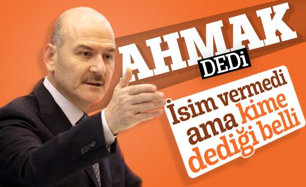 Süleyman Soylu, isim vermeden İmamoğlu'na tepki gösterdi