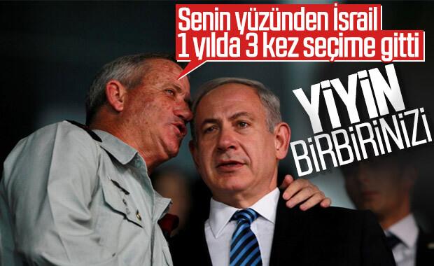 İsrail'de Gantz, hükümet krizinde Netanyahu'yu suçladı