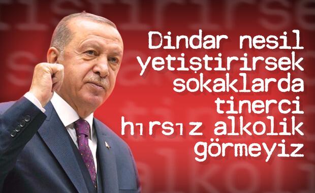 Erdoğan: Dindar gençlik istiyoruz